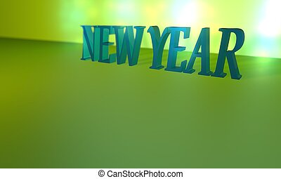 new year text composition 3d illustration