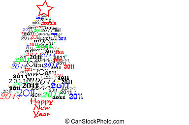 New year tree 2011 vector illustration