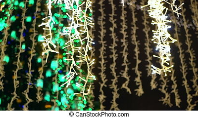 New Year tree balls light