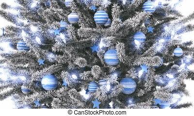 New Year tree isolated on white background