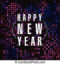 New year vector card