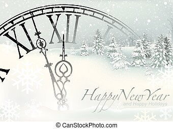 New Year Winter Background