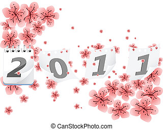 New Years 2011, vector
