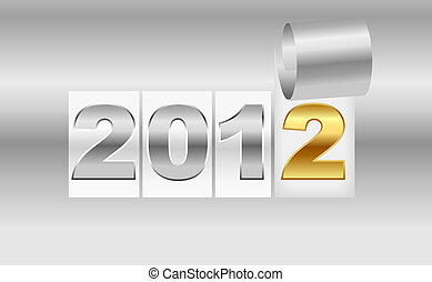 New Year's metallic background sheet of with curl