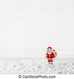 New Year's background. The figure of Santa Claus is made of...
