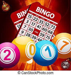 New Years bingo balls background