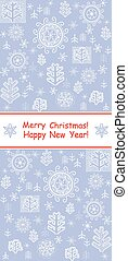 New Years blue template with abstract pattern
