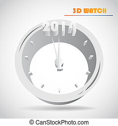 New Year's clock vector