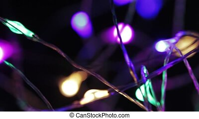 New Year's electric garlands - Multicolored luminous...