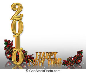 New years eve 2010 background - Illustration composition for...