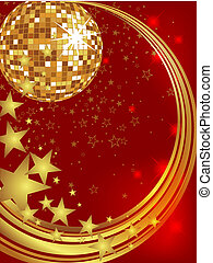 New years eve 2013 - Vector illustration of a golden mirror...