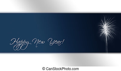 New Year\'s Eve Card (text paths included) - A card as...