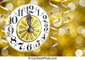 New Years Eve clock - New Years Eve party clock with...