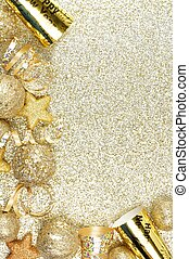 New Years Eve corner border over a gold background - New...