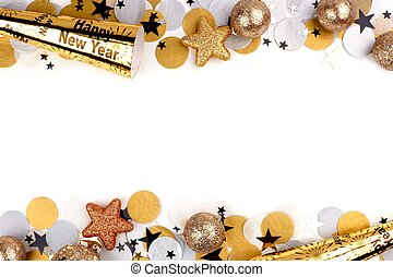 New Years Eve double border over white - New Years Eve...