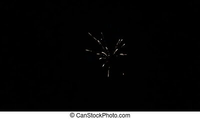 New Years Eve Fireworks - Fireworks in bright colours in the...