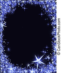 New Year\'s Eve frame with stars - Starry blue frame with...