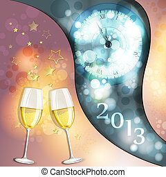 New year's eve greeting card