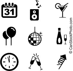 New Years Eve Icons
