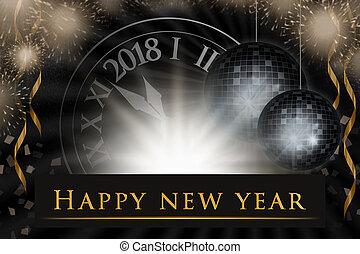 New Year's eve illustration, celebration background with...