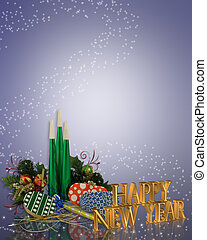 Image and illustration composition for Christmas, office, or holiday party background with copy space