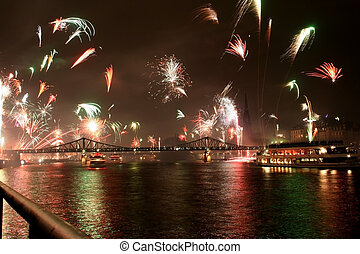 New Years Eve - new years eve in Frankfurt. Many Rockets and...