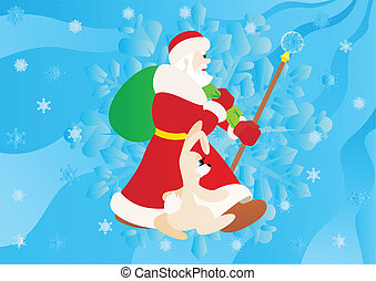 New Year's Eve, Santa Claus, Christ