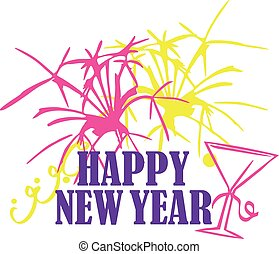 New years eve with happy new year font