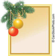 New Year's frame with balls