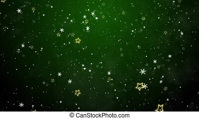 New Year's frosty background and falling snowflakes
