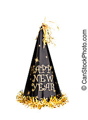 New Years Hat - New Years hat isolated on a white background