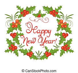 New Year's holly wreath