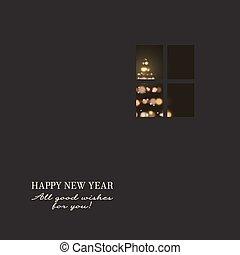 New years invitation.
