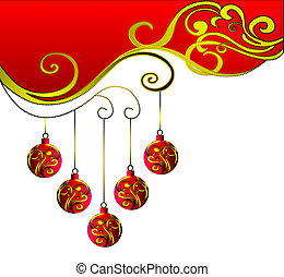 New year's ornament with five times. - New year's ornament...
