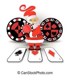 New Year's Poker casino. happy