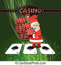 New Year's Poker casino. happy new year