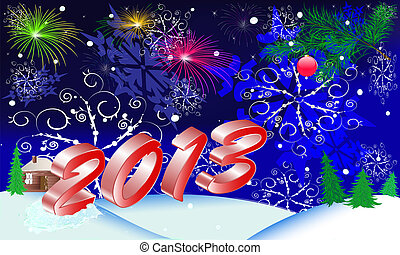 new year's postcard