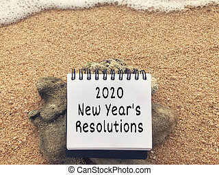 New Year?s Resolution Concept.