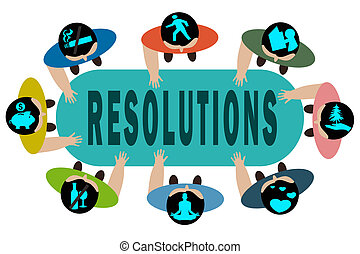 New years resolution stock illustration images 3498 new years new years resolution concept illustration voltagebd Choice Image