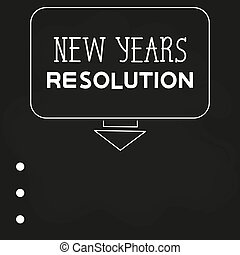 New Year's Resolution On A Dark Background. Calendar. Leaflet, Banner. Vector Holiday Poster. Happy New Year Text Design. Abstract Flyer Design Background.