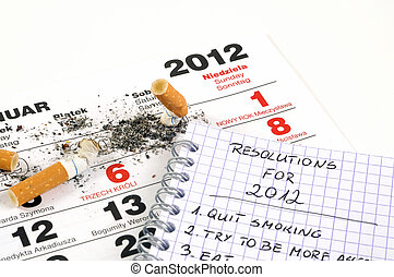 New Year's resolutions - quit smoking - New Year's...