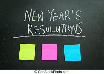 New Year's resolutions - The word New Year's resolution...