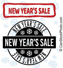 New Year'S Sale Grunge and Clean Stamp Seals for New Year