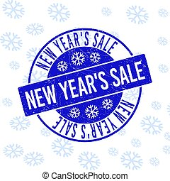 New Year'S Sale Scratched Round Stamp Seal for New Year