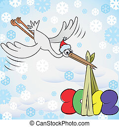 New Year's stork