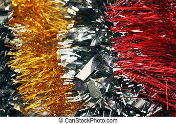 New year's tinsel. Background