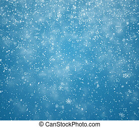 New Year's winter background