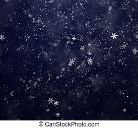 New Year's winter snow background