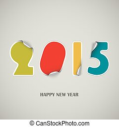 New Years wishes as colored stickers background