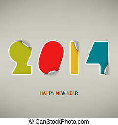 New Years wishes as colored stickers